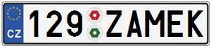 SPZ 129 ZAMEK